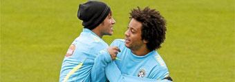 Marcelo se va con su amigo Neymar