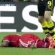 Lewandowski debió ver la roja por el pisotón a Boateng