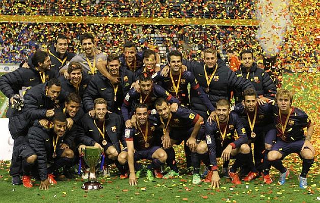 Seis a�os despu�s el Bar�a levanta la Copa Catalunya