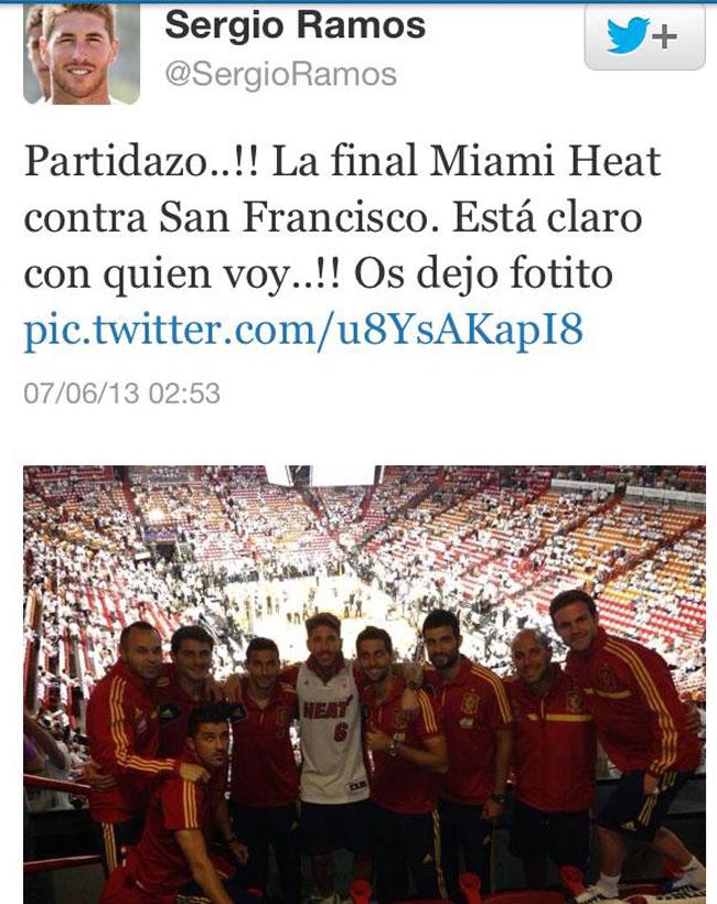La emoci�n confunde a Sergio Ramos y da como finalista NBA a San Francisco