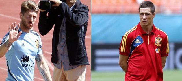 Torres y Ramos igualan a Ra�l en partidos con Espa�a