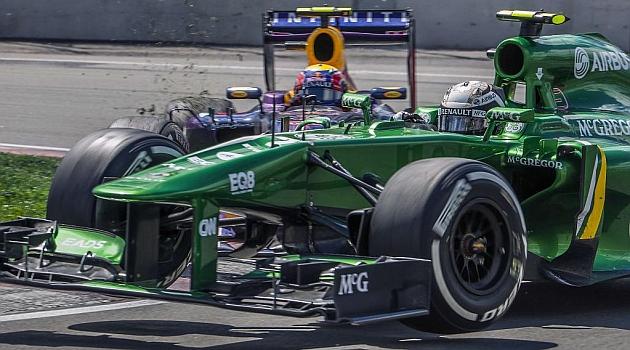Van der Garde y Webber se tocan en la horquilla del circuito Gilles Villeneuve / Foto: AFP