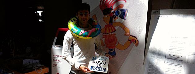 Carlos Alonso posa para MARCA en la antesala del Mitin de Huelva