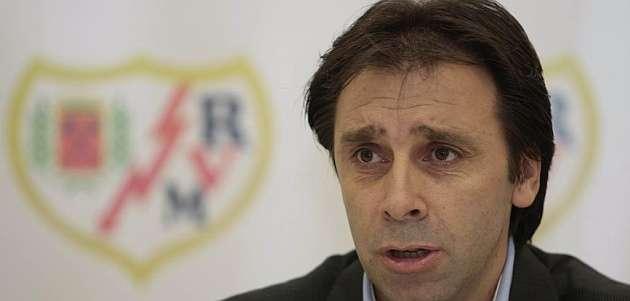 Felipe Miñambres, durante una rueda de prensa / Emilio Cobos (MARCA)