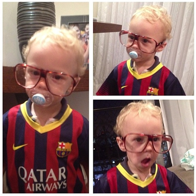 El hijo de Neymar ya viste del Barcelona