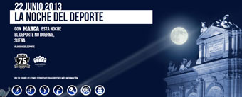 Madrid se engalana para 'La Noche del Deporte'