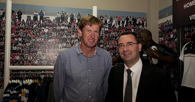Paul Nicholson, director general de CCC Espa�a, y el embajador Michael Swain