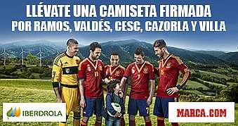 Sergio Ramos, Valdés, Cesc, Carzorla y Villa te regalan su camiseta