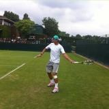Nadal practica el foottennis en Wimbledon