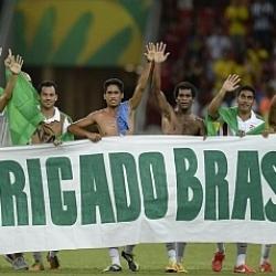 Tahití se despide de la Confederaciones dando las gracias a la afición brasileña