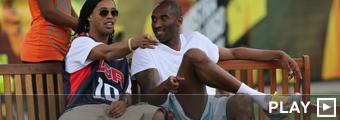 Kobe Bryant y Ronaldinho