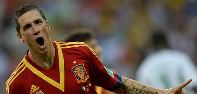 Fernando Torres celebra su gol ante Nigeria / AFP