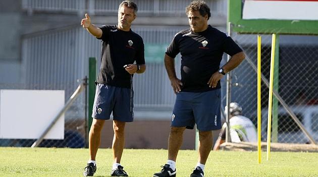Fran Escribá y Alberto Capón, en un entrenamiento. FOTO: Manuel Lorenzo | MARCA