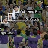 Neymar fue a celebrar con sus colegas el golazo