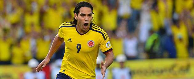 Radamel Falcao celebra un gol con la selecci�n colombiana / AFP