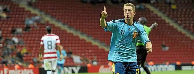 Gerard Deulofeu celebra el gol que marcó contra Estados Unidos / AFP