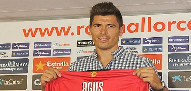 Agus, presentado como jugador del Mallorca / RCD MALLORCA