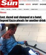 Fotografían a Gascoigne borracho e inconsciente después de una juerga