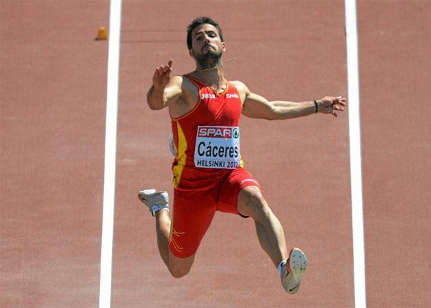 Eusebio Cáceres salta 8,37 en los Europeos sub 23
