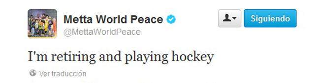 El amnistiado Metta World Peace anuncia su futuro: Me retiro y me paso al hockey