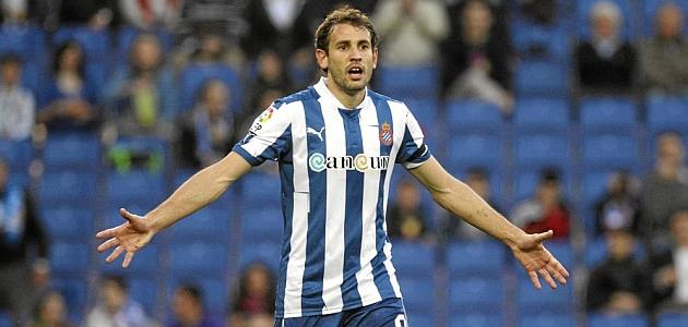 Stuani, en un partido con el Espanyol de la pasada temporada / JOMA (MARCA)