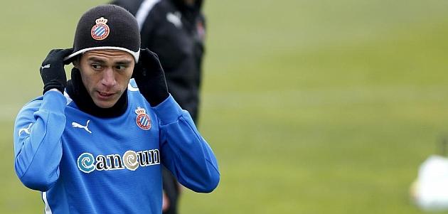 Héctor Moreno, en un entrenamiento del Espanyol / FRANCESC ADELANTADO (MARCA)