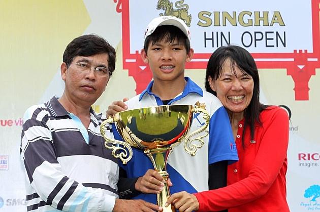 Ganador del abierto de Hua Hin �con 14 a�os!