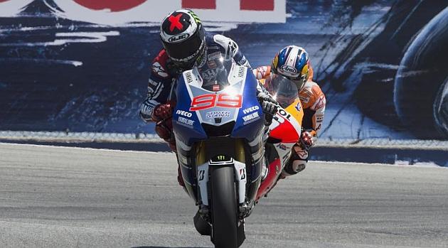 Lorenzo y Pedrosa, en un momento del Gran Premio de Estados Unidos / GETTY IMAGES