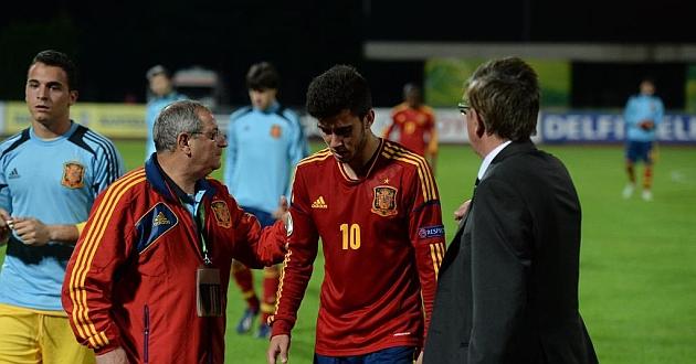 Fede Vico y sus compañeros se retiran con la decepción en su rostro / Sportsfile