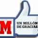 Superamos el millón en Facebook y lo vamos a celebrar
