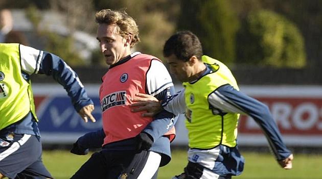 Diego Rivas y Garitano, cuando eran compa�eros en la Real Sociedad / Josune Mnez. de Albeniz