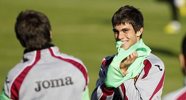 Salva Ruiz, en un entrenamiento de la pasada temporada / Vicente Rodr�guez (Marca)