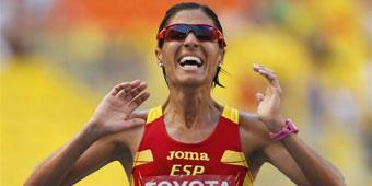 Histórico maratón de Alessandra Aguilar en Moscú