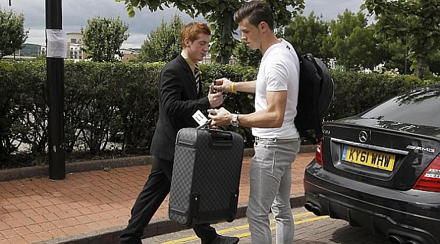 Bale looks on from Marbella