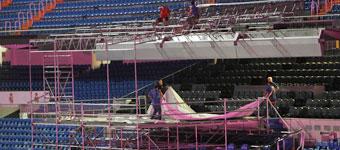 Desmontando el palco