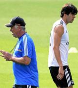 Ancelotti y Kaká