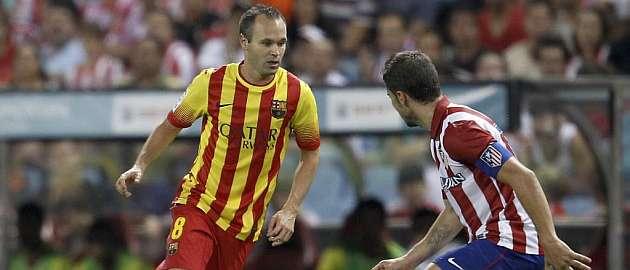 Andr�s Iniesta, durante el partido de ida de la Supercopa de Espa�a / �ngel Rivero (MARCA)
