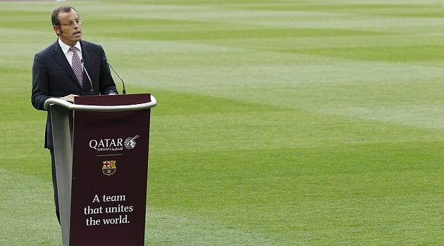 Sandro Rosell en un reciente acto publicitario del Barcelona. FRANCESC ADELANTADO | MARCA