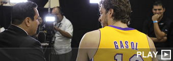 Pau Gasol en el Media Day