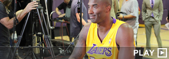 Kobe Bryant en el Lakers Media Day