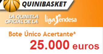 ¡Gana 25.000 euros con el Quinibasket!