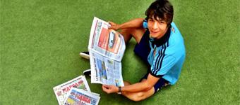 Futbolista y reportero