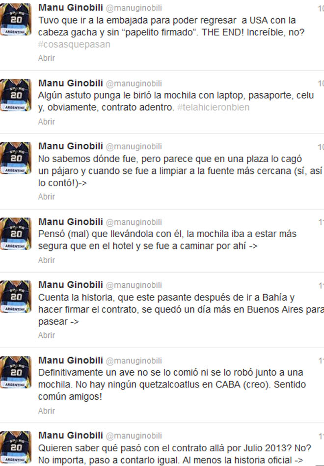 Ginobili explica el 'P�jaroGate' y el incre�ble robo de su contrato de 14 millones de d�lares