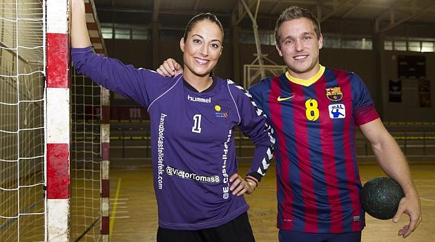Víctor Tomás y Hege Bolstad, los dos lados de la cancha