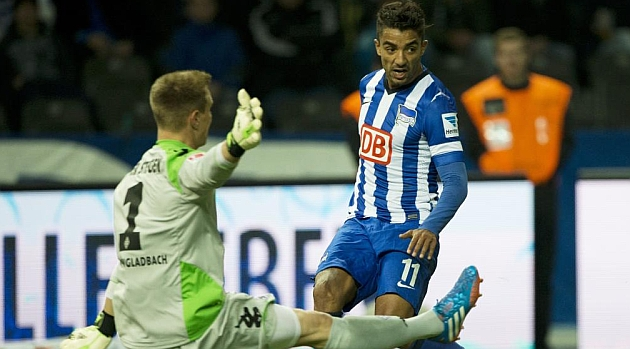 Ter Stegen, en un partido contra el Hertha / AFP