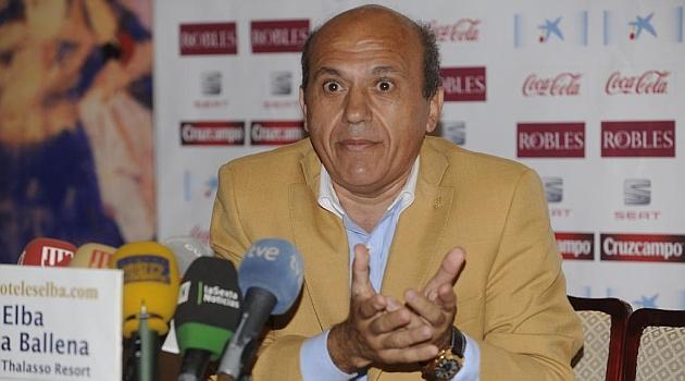 José María del Nido, durante una rueda de prensa. KIKO HURTADO
