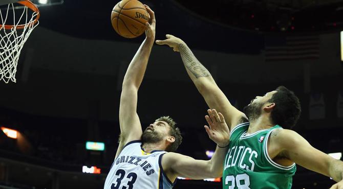 Marc Gasol ti�e de negro el presente de los Celtics