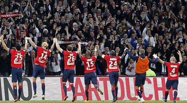 Los jugadores del Lille celebran su triunfo ante el Mónaco / REUTERS
