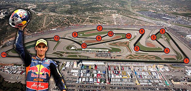 Salom analiza curva a curva el circuito Ricardo Tormo