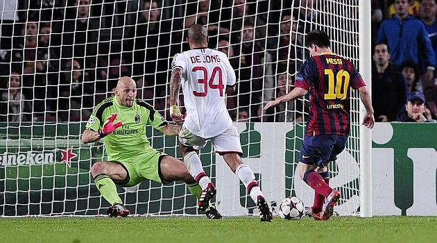 Messi awakens as Bar�a dump Milan
